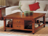 Square Table 2 Drawers