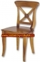 Židle -  Crossback Wooden Seat Chair.