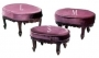 Victorian Oval Footstool 3 Pcs
