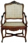 Židle - Chair French Rattan Arm