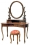 Queen Anne Dressing Table A with Stool