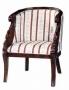Křeslo - Regency Swan Carved Tub Chair