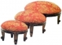 Victorian Stool Set Of 3