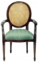 Židle - French Oval Carver with Rattan B