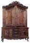 Display Cabinet Carved Teak 2 Door