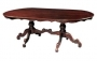 Oval Twin Leg Carved Dining Table 240
