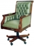 Library Swivel Chair Leather