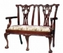 Židle - Chippendale 2 Seater Shell Carved