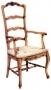 Židle - French Ladderback High Carver